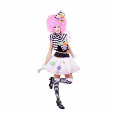 Clown jurkje zwart met wit voor carnaval