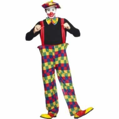 Clowns carnavalskleding volwassenen voor
