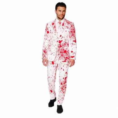 Compleet kostuum met bloedspatten voor carnaval