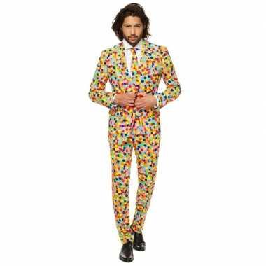 Compleet kostuum met confetti print voor carnaval