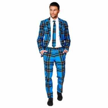 Compleet kostuum met Schotse ruit voor carnaval
