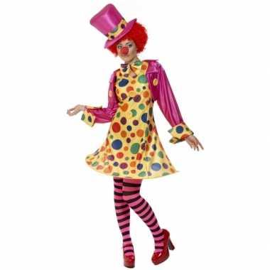 Dames clowns kleding voor carnaval