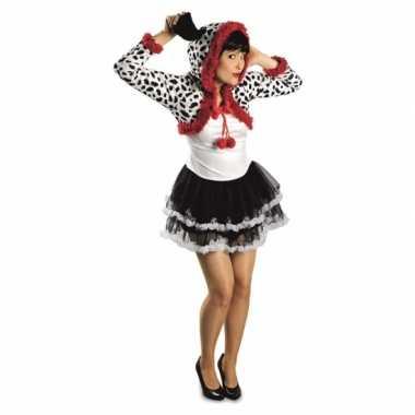Dames dalmatier hond kostuum voor carnaval