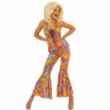 Dames kostuum jaren 70 voor carnaval