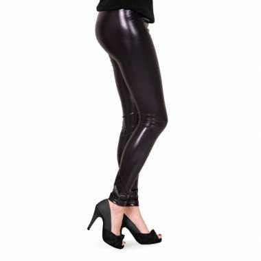 Dames lak legging zwart voor carnaval