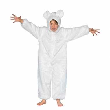 Dieren carnavalskleding ijsbeer kid voor