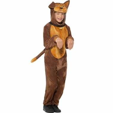 Dieren verkleed jumpsuit hond voor kids carnaval