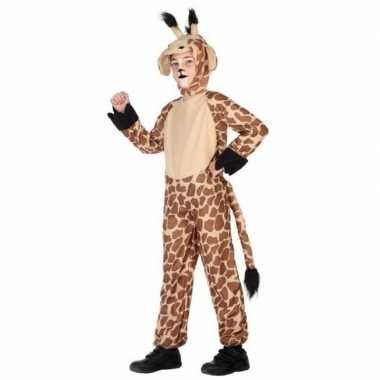 Dierenpak verkleed kostuum giraffe voor kinderen carnaval