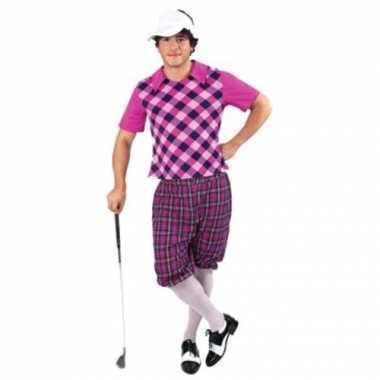 Drie delig golf kostuum voor heren carnaval
