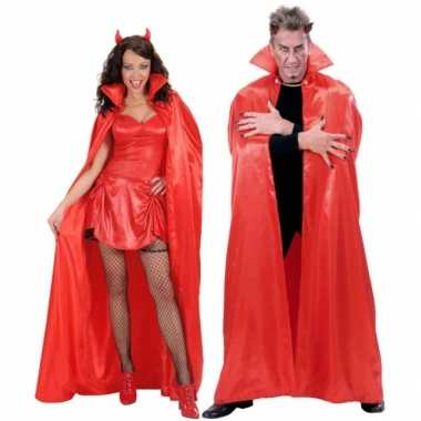 Duivel cape rood 158 cm voor carnaval
