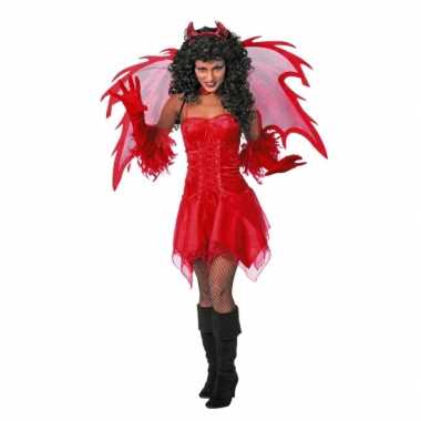 Duivel carnavalskleding jurkje volw voor