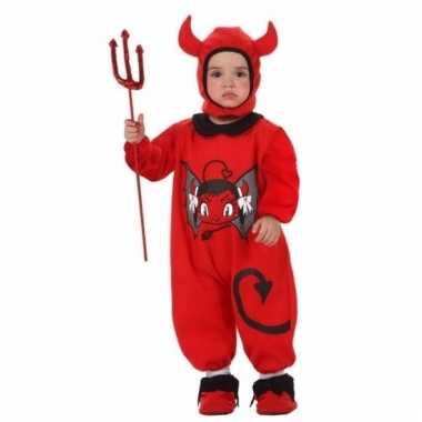 Duivel jumpsuit voor baby's carnaval