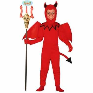 Duivel jumpsuit voor kinderen carnaval