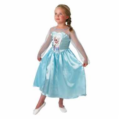 Elsa frozen jurk voor kinderen carnaval