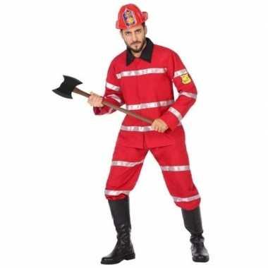 Feest/carnaval brandweermannen verkleedoutfit voor heren