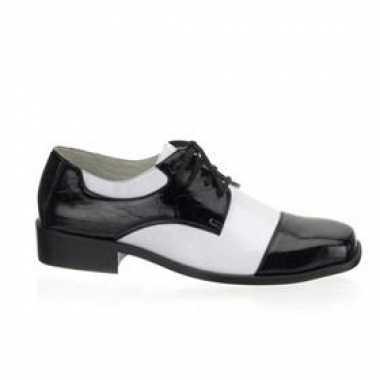Feest schoenen zwart/wit voor carnaval