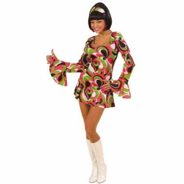 Flower power jurkje voor dames carnaval