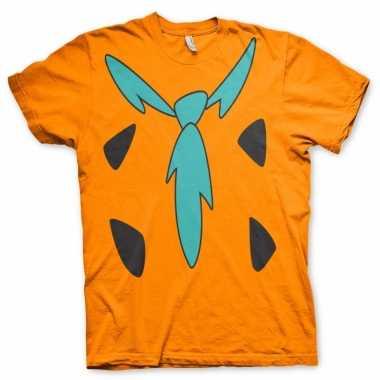 Fun flintstones shirt heren voor carnaval