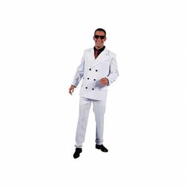 Gangster carnavalskleding heren wit voor
