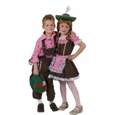 Geblokt overhemd voor kinderen carnaval
