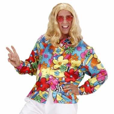 Gekleurde bloemen shirt voor carnaval