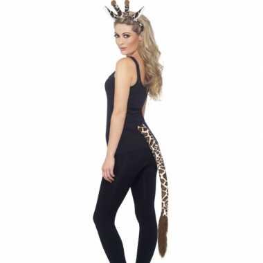 Giraffe verkleed setje voor volwassenen carnaval
