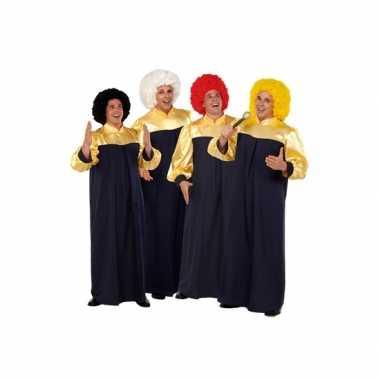 Gospel zanger kostuums voor carnaval