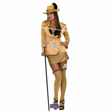 Gouden madam pakje voor vrouwen carnaval