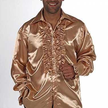Gouden rouches blouse voor heren carnaval