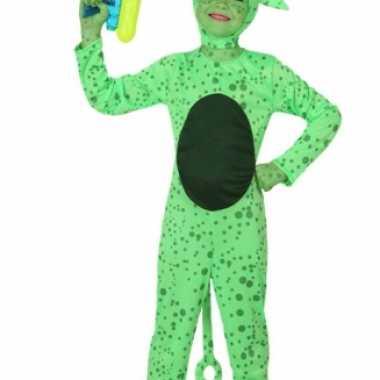 Groen alien kostuum kinderen voor carnaval