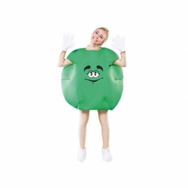 Groen snoepje verkleedkleding voor carnaval