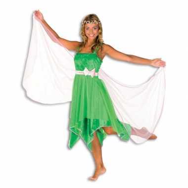 Groene elfen jurk dames voor carnaval