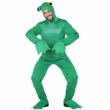 Groene kikker verkleedpak met voor volwassenen carnaval