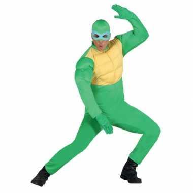 Groene ninja verkleedkleding voor heren carnaval