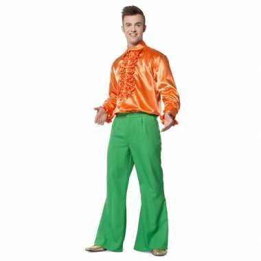Groene seventies broek voor heren carnaval