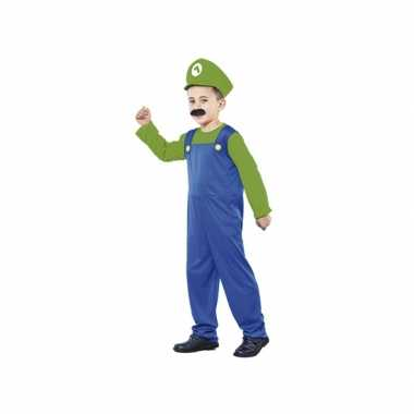Groene Super Loodgieter kostuum kids voor carnaval