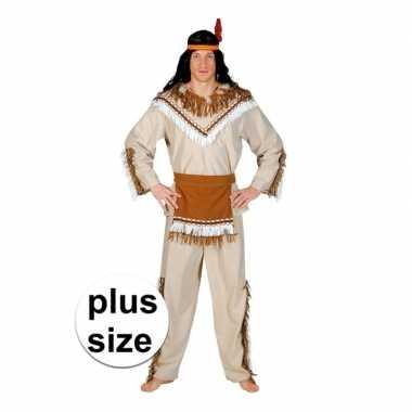 Grote maat indiaan adahy carnavalskostuum voor heren