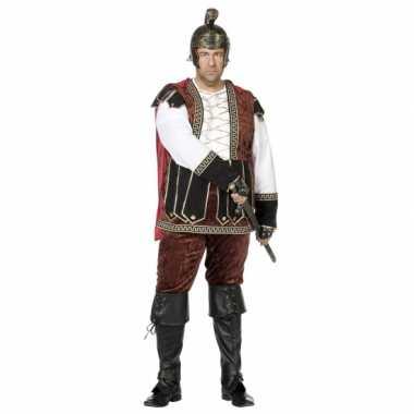 Grote maat middeleeuws kostuum voor heren carnaval