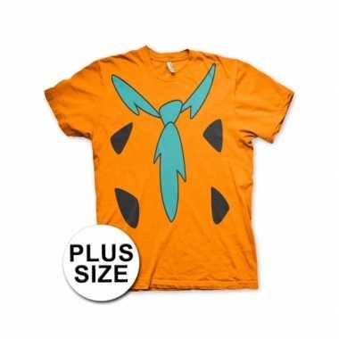 Grote maten fun flintstones shirt heren voor carnaval