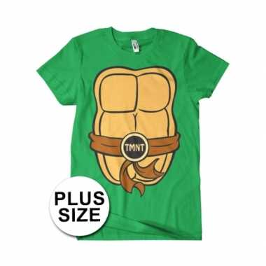 Grote maten fun ninja turtles shirt heren voor carnaval