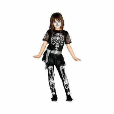 Halloween juwelen skelet jurk voor meisjes carnaval