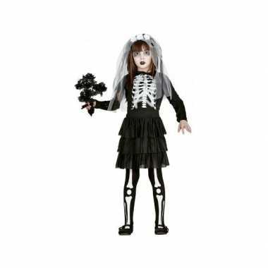 Halloween skelet bruidsjurk voor meisjes carnaval