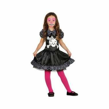 Halloween skelet jurk met stippen voor meisjes carnaval