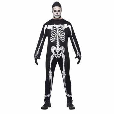 Halloween skelet kostuum voor volwassenen carnaval