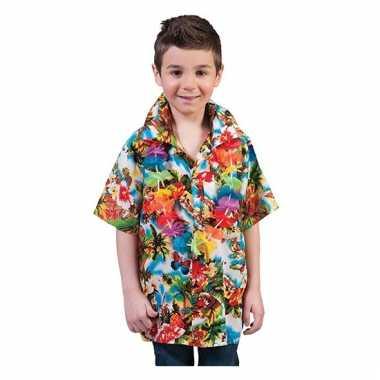 Hawaii blouse voor kids carnaval