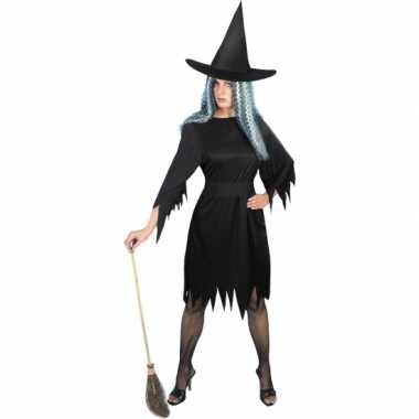 Heksenjurkje dames in het zwart voor carnaval