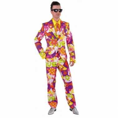 Heren maatpak bloemen love voor carnaval