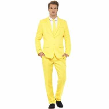 Heren maatpak geel voor carnaval