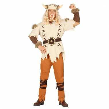 Heren vikings kostuum bruin 6 delig voor carnaval