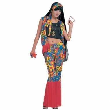 Hippie kleding met peace tekens voor carnaval